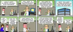 Dilbert and his workplace hapiness