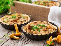 Mini Chanterelle Mushroom Quiches
