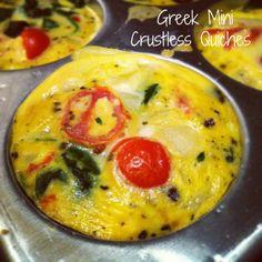 Greek Mini Crustless Quiches | Hummusapien
