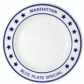 Manhattan Blue Stars dinner plate