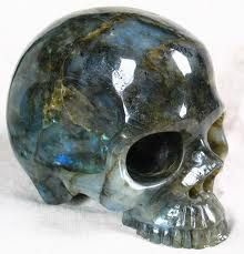 labradorite gemstone skull