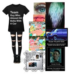 """""""Team Tyler's Van"""" by faygoman ❤ liked on Polyvore featuring B. Ella and Melissa"""