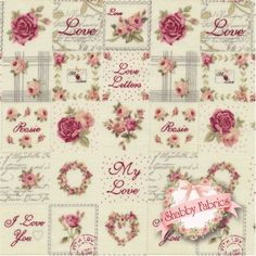 Rosie's Love Letters 4507-188 by Stof Fabrics