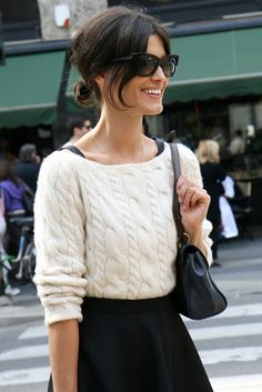love the cable knit.