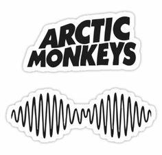 Arctic Monkeys AM Logo sticker by TaVinci Macbook Stickers, Phone Stickers, Band Stickers, Cute Stickers, Tumblr Stickers, Band Logos, Aesthetic Stickers, Logo Sticker, Photos