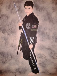 Portret of the boy in karate uniform