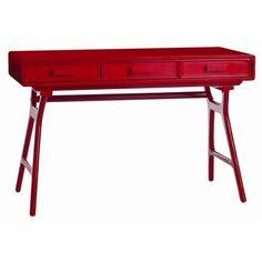 Phillip Red Wood Desk  by ARTERIORS | Project Décor