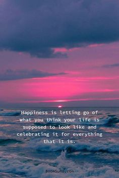 "79 Inspirational Quotes About Life And Happiness ""Happiness is letting go of what you think your life is supposed to look like and celebrating it for every Short Inspirational Quotes, Inspiring Quotes About Life, Great Quotes, Motivational Quotes, Funny Quotes, Care For You Quotes, Good Sayings About Life, Quotes About Soul, Not Knowing Quotes"