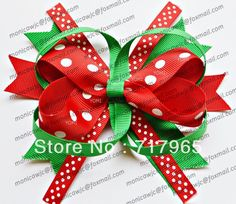 DIY Baby christmas ribbon Hair Clips | ... cabelo bow bow com clip para o bebê miúdos acessórios de cabelo