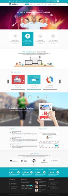 Mukam - Limitless Multipurpose Responsive Template by Webatic, via Behance