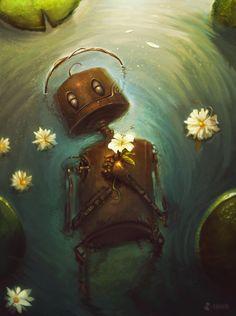 The Art Of Animation, João Paulo Bragato - . Arte Robot, Robot Art, Art And Illustration, Fantasy Kunst, Fantasy Art, Gothic Dolls, Animation, Deviant Art, Cthulhu