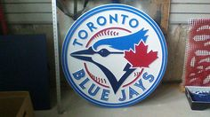 Blue Jays logo carved in mdf using a cnc router.