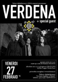 Venerdì 27 febbraio 2015 nuovo e super concerto insieme ai grandi della musica. Al Velvet Rimini in concerto i Verdena.