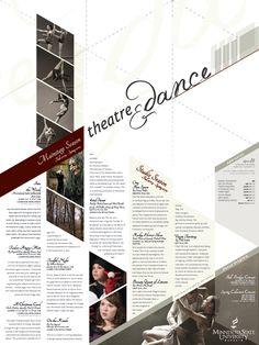 Theatre & Dance Mailer/Poster by Benjamin Sweeney, via Behance