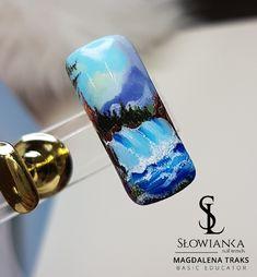 Pejzaż malowany żelami ma paznokciach.  #slowiankanails #trendnails #manicure #hybryda #paznokcie #szkolenia #koszalin #magdalenatraks.