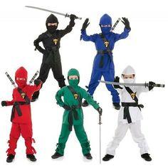 Ninja Warrior Costume for Kids Halloween Fancy Dress Ninja Halloween Costume, Lego Costume, Halloween Costumes Kids Boys, Boy Costumes, Halloween Fancy Dress, Zombie Costumes, Halloween Couples, Family Costumes, Group Costumes