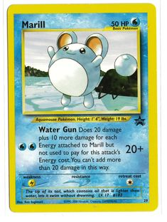 This Pokemon card was originally only available through the Pokemon League. It is in good condition and may have a small mark or two, but nothing major. It will be shipped in a protective plastic slee