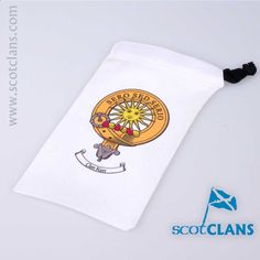Kerr Clan Crest Spectacle Pouch. Worldwide Shipping Available
