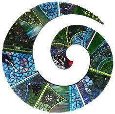 Joss's Koru Mosaic Vase, Mosaic Wall Art, Mosaic Pictures, Projects To Try, Symbols, Mosaic Ideas, Studio, Holiday Decor, Muse