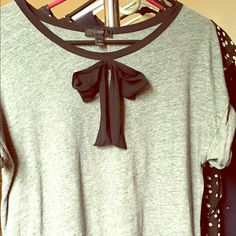 Jcrew Bow Tee Cute tee to pair with jeans or a skirt. Worn but no signs of wear. J. Crew Tops Tees - Short Sleeve