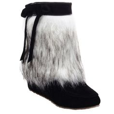 Simple Faux Fur and Bow Design Women's Ankle Boots