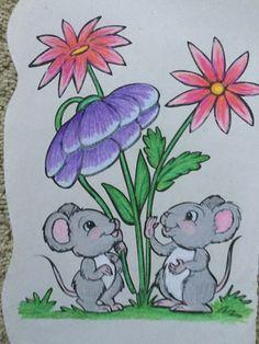 Oil Pastel Drawings, Colorful Drawings, Cute Drawings, Easy Drawings For Kids, Drawing For Kids, Animal Sketches, Animal Drawings, Mushroom Art, Envelope Art