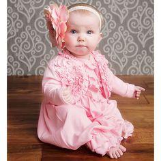 Adorabe Lemon Loves Layette - Baby Girls Pale Pink Pima Cotton 'Emma' Cardigan.