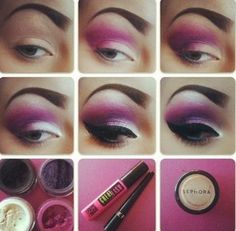 Dramatic Purple Smokey Eye