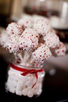 Candy Cane cake pops :)