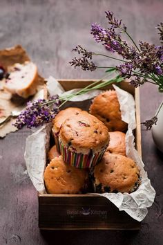 Eggless Lavender Berry Muffins are easy to make. Eggless Lavender Berry Muffins are eggless. Eggless Lavender Berry Muffins are as light as sponge cake. Indian Food Recipes, New Recipes, Vegan Recipes, Favorite Recipes, Delicious Recipes, Vegan Meals, Vegetarian Breakfast Recipes, Vegetarian Cooking, Berry Muffins