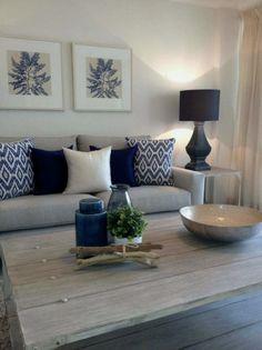 30 elegant living room color schemes ideas home decor ideas room idea Coastal Living Rooms, Elegant Living Room, Home Living Room, Apartment Living, Interior Design Living Room, Living Room Designs, Coastal Entryway, Design Interiors, Modern Interior