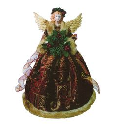 Gold & Burgundy Angel tree toppers Victorian Christmas Tree, Angel Christmas Tree Topper, Christmas Angels, Christmas Ornaments, Angel Decor, Embroidered Clothes, Burgundy, Holiday Decorating, Stickers