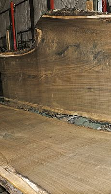 This Black Walnut log is almost flawless! Some boards are completely clear except for a few very small random knots, others possess very minimal defects. Rich dark heartwood with spectacular grain. Great log for one piece tabletops! ~ Hearne Hardwoods Inc.