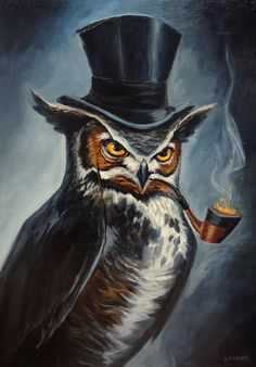 Sophisticated Owl by adlovett.deviantart.com on @deviantART