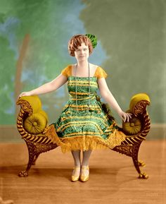Colorized version of Miss May K. Little, 1925