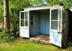 cute little shed, redo for a reading room or potting shed by the garden