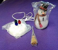 "Avon Collectible - Lighted ""Chilly Sam Light Up Snowman"" in its original box"