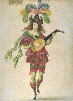 Le Ballet Royal de La Nuit - Costume pour un Joueur de Luth