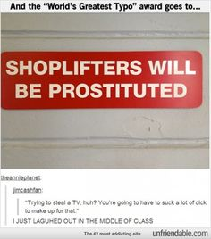 stealing = prostitution