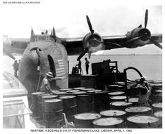 Pan Am's Boeing 314 during Wartime. #World War Two #Boeing #314 #flying boat #panam #Pan Am #aviation #history #war years #panam.org #Liberia