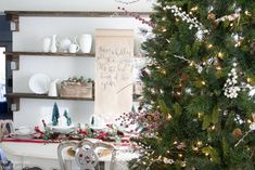 Farmhouse Inspired Christmas Dining Room