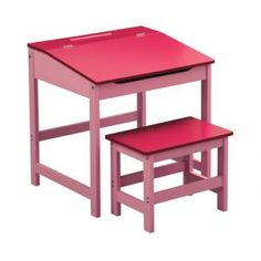 Table and Stool Set in Pink