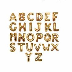 Giant Gold Aluminum Balloon Letter  90cm by goodkoop on Etsy