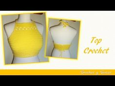 (3) Top crop halter tejido a crochet ganchillo – Parte 1 - YouTube