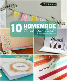 10 Homemade Thank You Cards