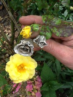 Rozen uit eigen tuin, nu in zilver.
