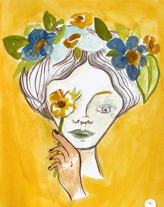 by De Hermo / HUM #illustration #flowers #spring