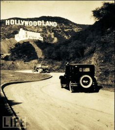 "Original HOLLYWOOD Sign Circa 1923 The HOLLYWOOD Sign Originally said ""HOLLYWOOD LAND"" it was shortened in 1945."