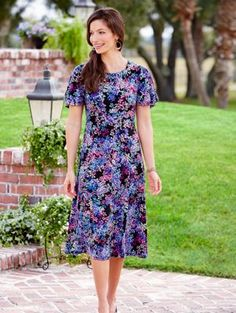 Womens Flutter Blossom Dress from Vermont Country Store