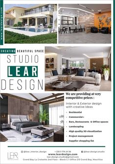 LEAR DESIGN - Interior design at an affordable price. Tel: 57 74 01 38 | Adverts - Latest Interior Decorating, Apartments Decorating, Decorating Bedrooms, Decorating Ideas, Decor Ideas, Exterior Design, Interior And Exterior, Home Bedroom, Bedroom Decor